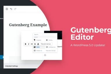 WordPress 5 gutenberg Update